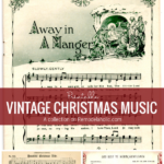 Printable Vintage Christmas Music For DIY Holiday Decor, From Remodelaholic