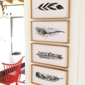 Feather Printable Set
