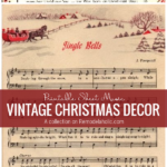 Printable Sheet Music For Vintage Christmas Decor, A Collection From Remodelaholic