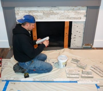 DIY Fireplace Makeover AirStone 1