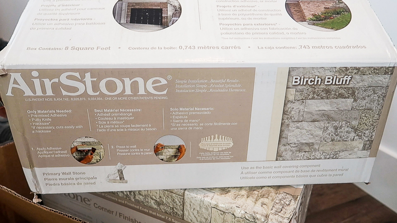 DIY Fireplace Makeover AirStone 5