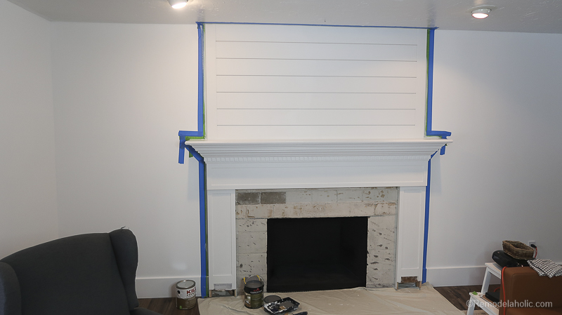 DIY Fireplace Makeover Fireplace Mantel Prime And Paint 1 (2)