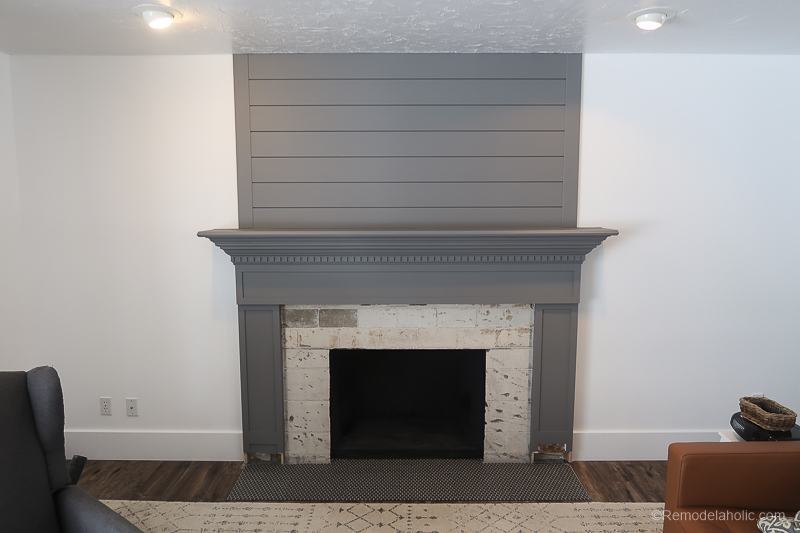 DIY Fireplace Makeover Fireplace Mantel Prime And Paint 1