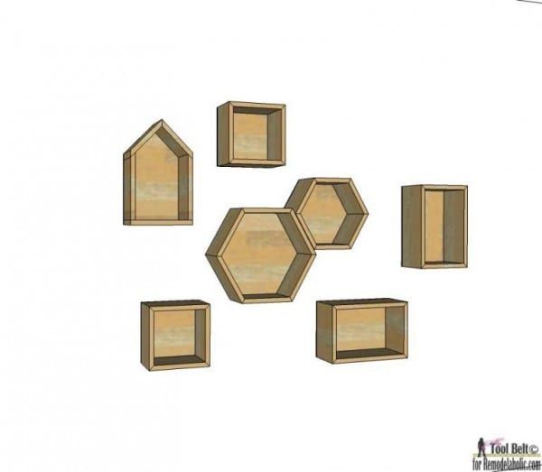 Geometric Display Shelves Building Plans To DIY