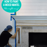 How To Paint A Wood Mantel The Right Way Why To Prime A Mantel Before Painting #remodelaholic