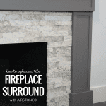 How To Replace A Tile Fireplace Surround With Faux Stone #remodelaholic