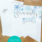 2020 Printable Monthly Calendar Set #remodelaholic