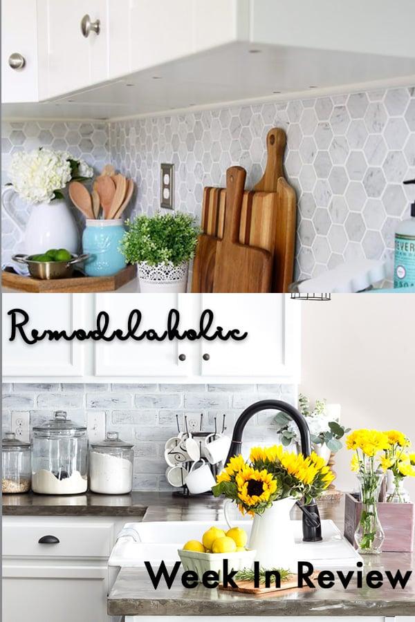 Remodelaholic Stunning Diy Backsplash Ideas For Your Kitchen And Bathrooms