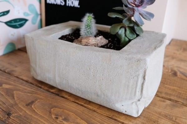 Concrete Planter, Rectangle