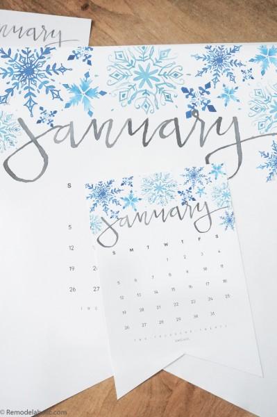 Beautiful Printable Wall Calendar And Desk Calendar Set #remodelaholic