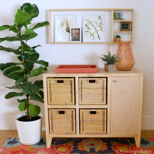 Build A DIY Entry Table With Cubby Storage And Easy Wall Shelf, Remodelaholic