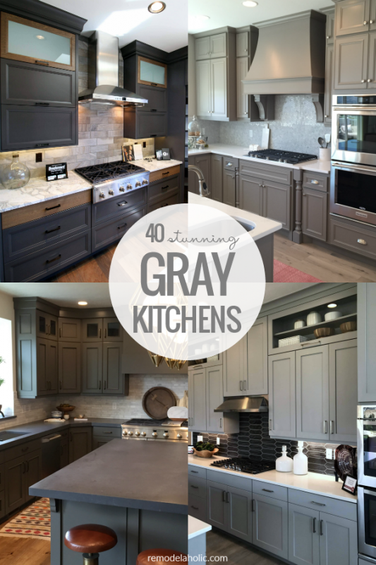 40 Stunning All Gray Kitchens With Gray Kitchen Cabinets #remodelaholic