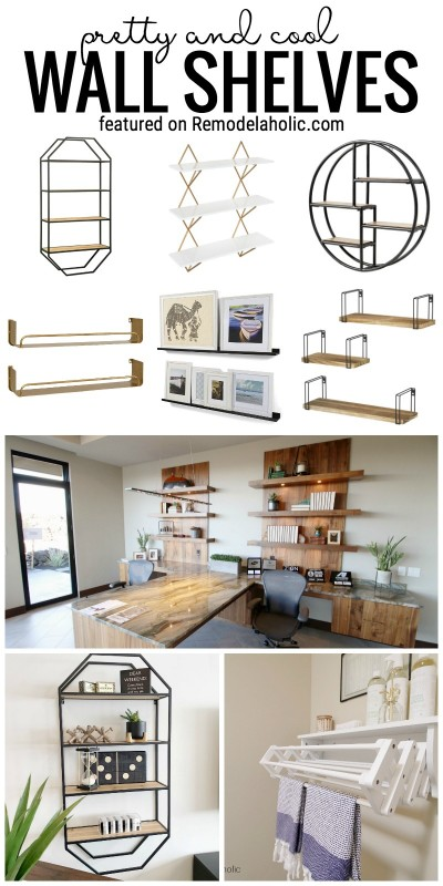 50+ Pretty And Cool Wall Shelves To Buy And How To Use Them In Your Home Featured On Remodelaholic.com