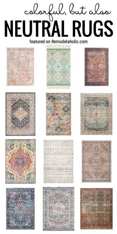 A Rug Can Have Some Color And Still Be Considered Neutral. Check Out These Colorful But Also Neutral Rugs Featured On Remodelaholic.com