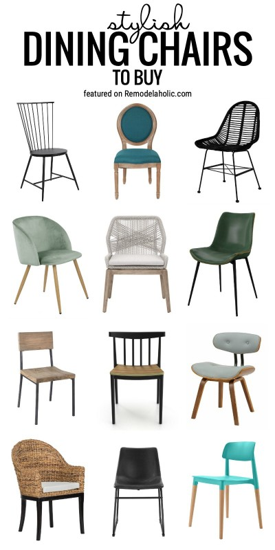 Add A Fun Element To Your Dining Room Decor With These 40+ Stylish Dining Chairs To Buy Featured On Remodelaholic.com