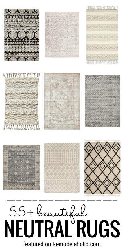 Add Something Neutral To A Space That Isn't Boring With A Touch Of Pattern And Texture With One Of These 55 Plus Beautiful Neutral Rugs Featured On Remodelaholic.com