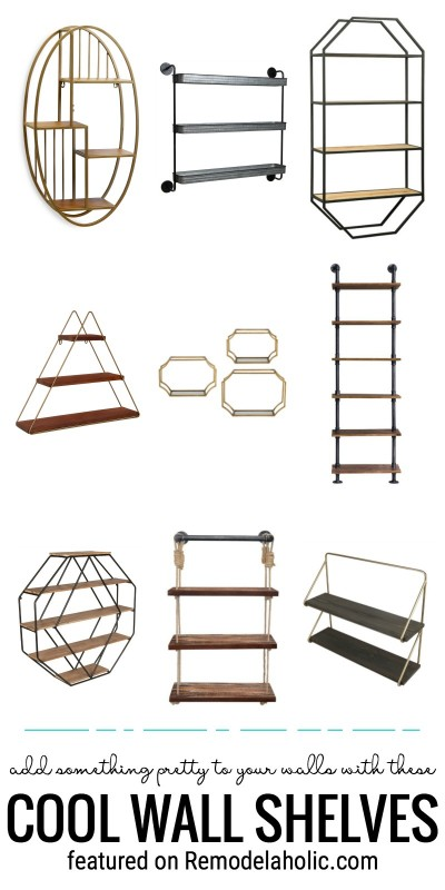 Cool, Unique And Modern Wall Shelves To Buy Featured On Remodelaholic.com
