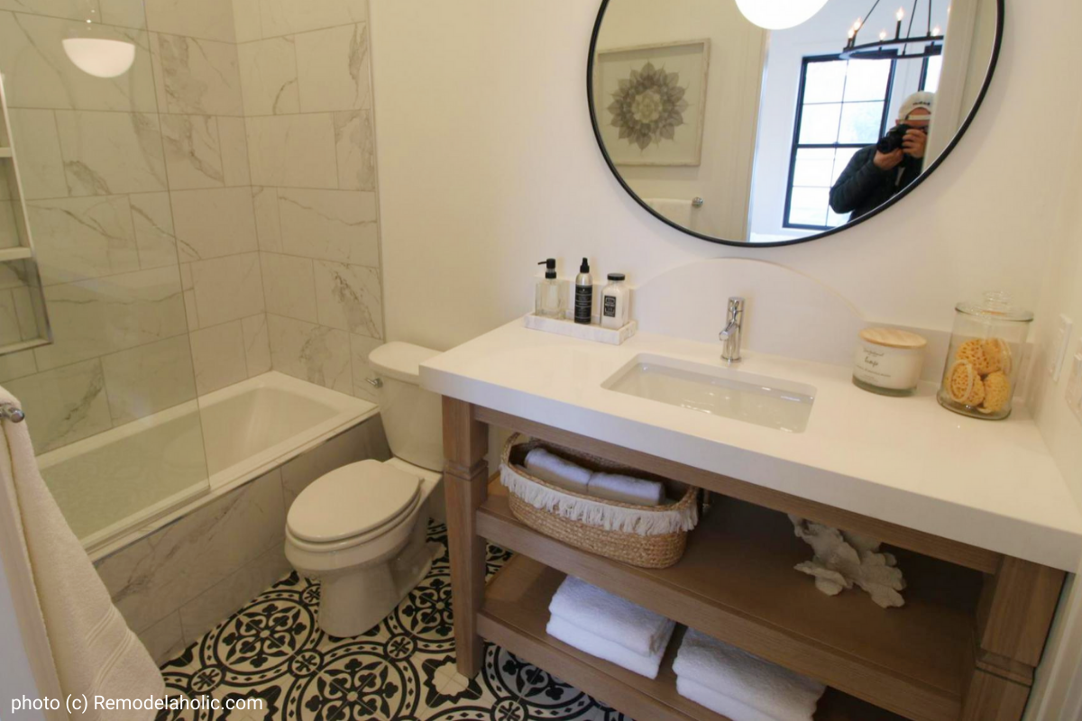 Remodelaholic Get This Look 5 Modern Farmhouse Bathroom Design Ideas