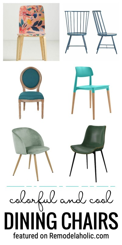 There Are So Many Cool Dining Chairs That Can Add Color To Your Dining Room Or Breakfast Nook. Find These Colorful And Cool Dining Chairs Featured On Remodelaholic.com