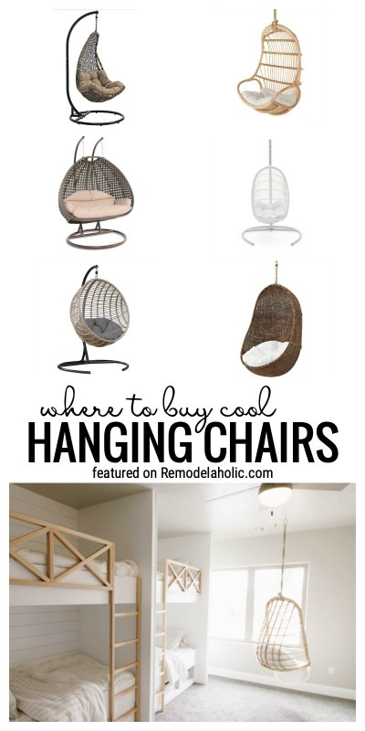 Where To Buy Cool And Cute Hanging Chairs Featured On Remodelaholic.com. Some Come With Stands Others Can Be Hung From The Ceiling Or A Tree