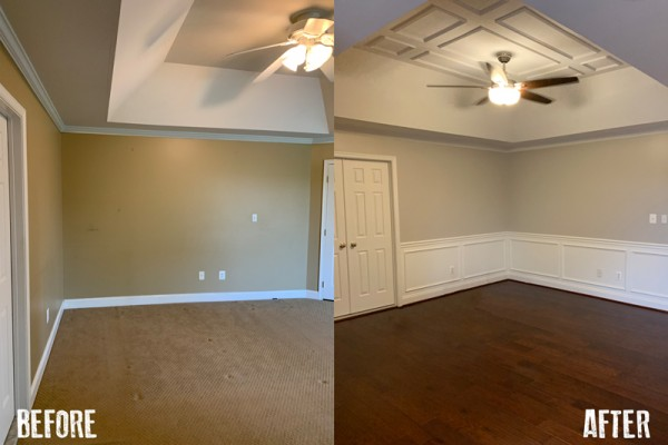 Before And After Wainscoting