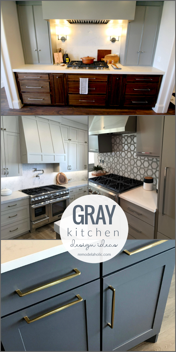 Inspiration And Ideas For Designing Gray Kitchen Cabinets Backsplash Tile Countertops #remodelaholic