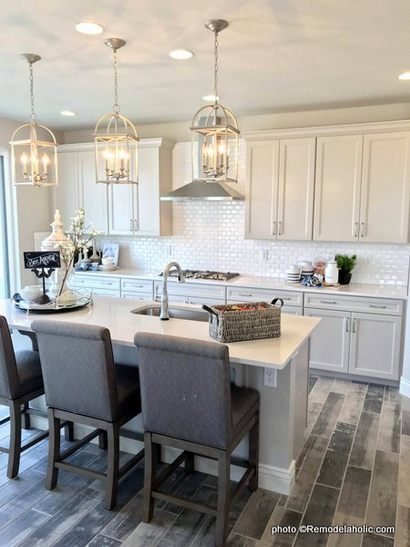Light Gray Kitchen Cabinetry, Contemporary Gray Kitchen, SLPH 2018 Home 12 Richmond American Homes