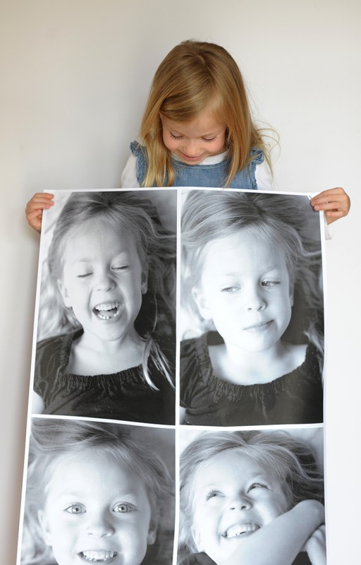 Print An Engineer Print For Large Black And White Photo DIY Wall Decor, Alice And Lois