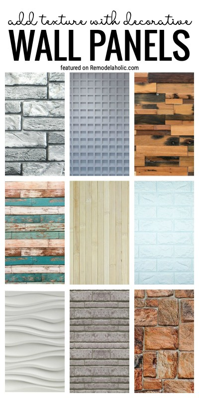 Add Lots Of Pretty Texture With Decorative Wall Panels Featured On Remodelaholic.com