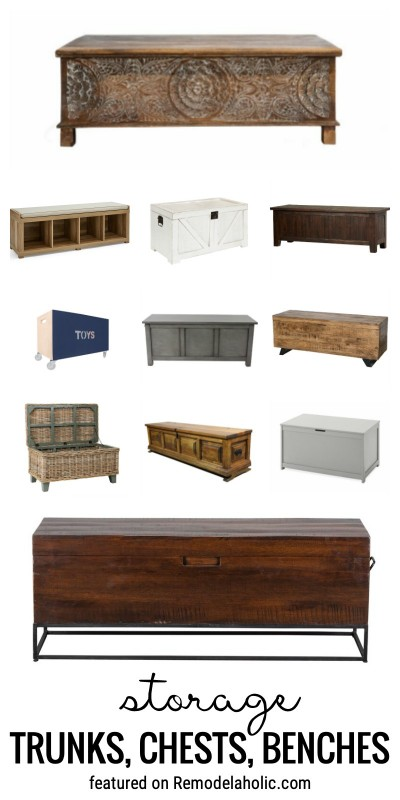Clean Up And Organize Your Home With Storage Trunks, Chests, Benches And Design Inspiration Featured On Remodelaholic.com