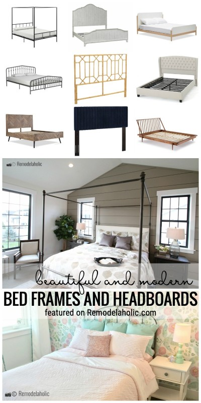 Find A New And Pretty Headboard With These Great Ideas. We've Found 55+ Beautiful And Modern Bed Frames And Headboards. Find Them Featured On Remodelaholic.com