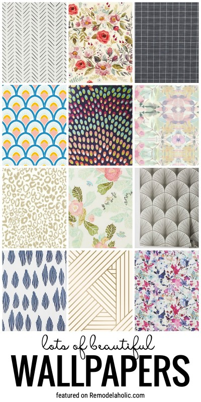 Get Wall Inspiration With These Beautiful Wallpapers For Every Room In The Home Featured On Remodelaholic.com