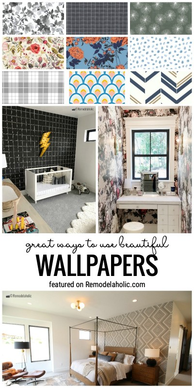 Great Ways To Use Beautiful Wallpapers In Many Different Ways All Over The Home Featured On Remodelaholic.com