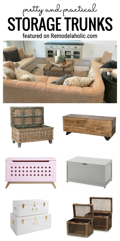 Pretty And Practical Storage Trunks To Beautify Your Home With Design Inspiration And Where To Buy Featured On Remodelaholic.com