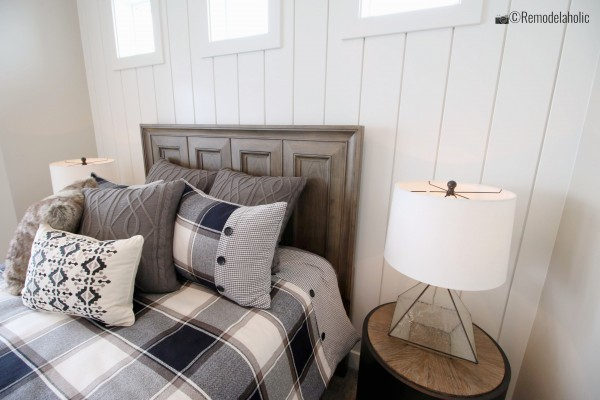 Vertical Shiplap wall panels, SPGH 2019 House 27 Slate Ridge Homes, Inc, Photo by Remodelaholic