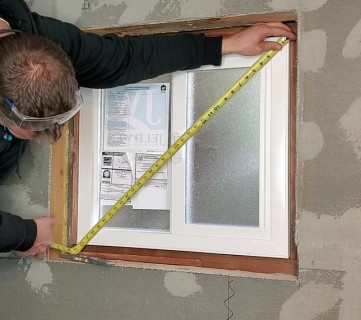 Installing window in basement bathroom