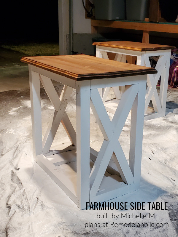 Michelle M, Modified Farmhouse Side Table 22feb21, Plans At Remodelaholic