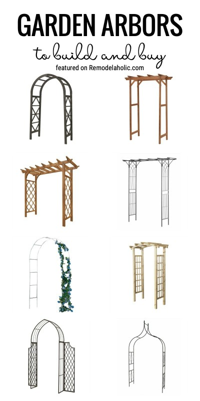 Add A Fun Area To Your Backyard With A Garden Arbor. Garden Arbors To Build And Buy Featured On Remodelaholic.com