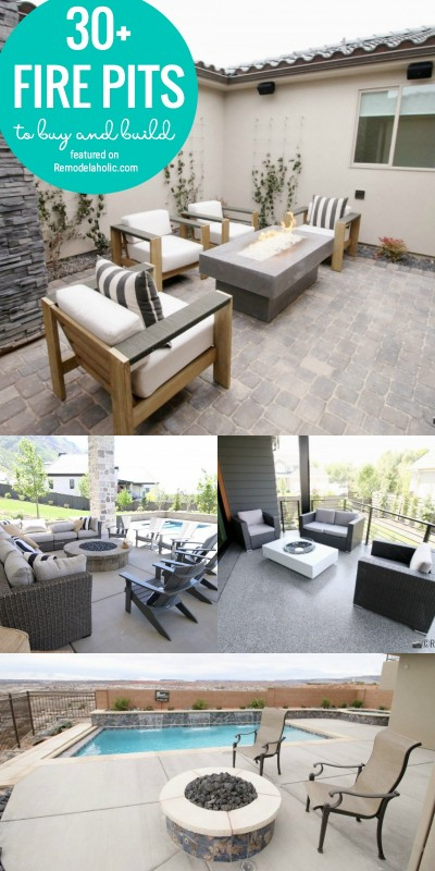 Find The Perfect Way To Add Ambiance To Your Porch Or Patio With One Of These 30+ Fire Pits To Buy And Build Featured On Remodelaholic.com