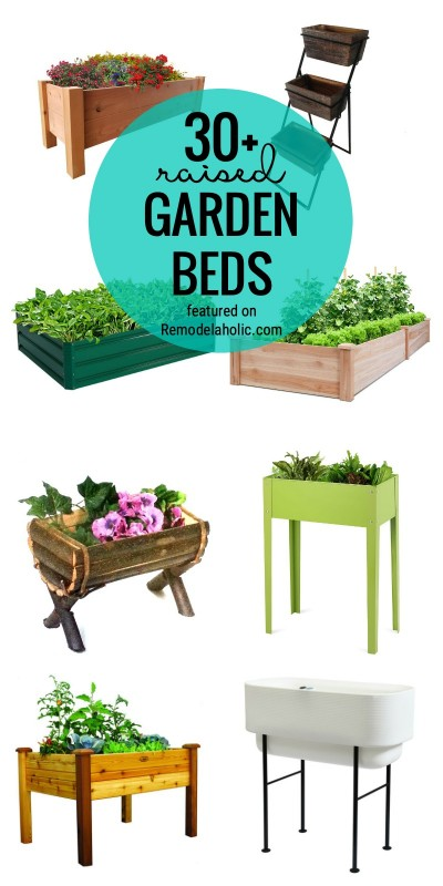 Find Your Perfect Garden Bed With An Elevated Or Raised Garden Bed Featured On Remodelaholic.com