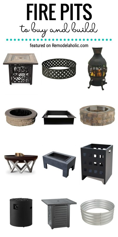Fire Pits To Buy And Build And How To Style Them On Your Patio Featured On Remodelaholic.com