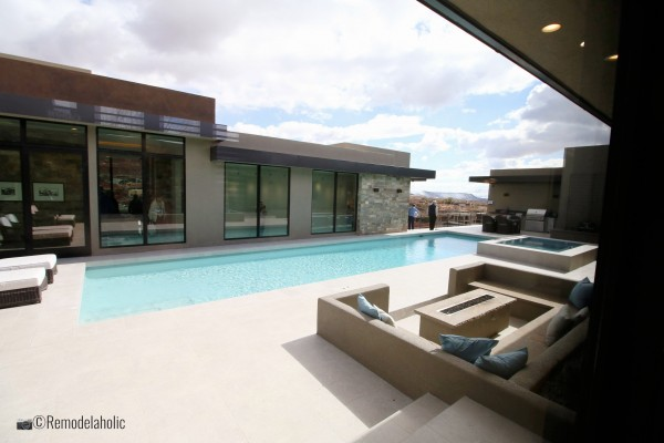 A pool is a great place to add an outdoor seating area with a fire pit to buy, SGPH 2019 House 15 Split Rock Custom Homes, Photo by Remodelaholic