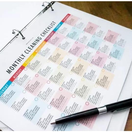 Spring Cleaning Checklist In Binder