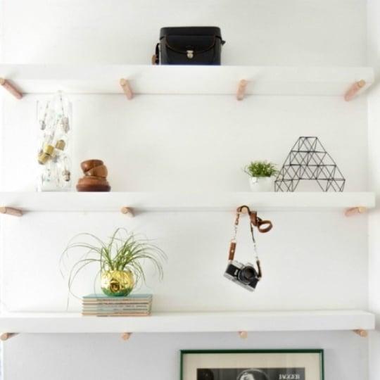 30 Tutorials For DIY Wall Shelves