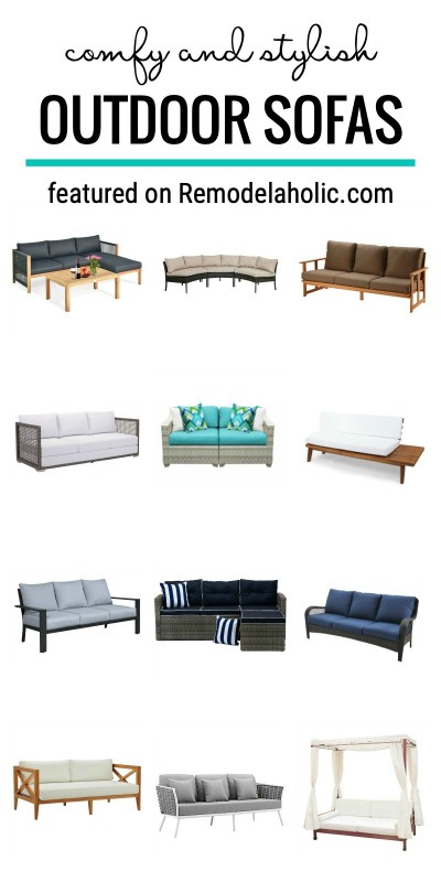 Add Seating To Your Patio With These Ideas For Comfy And Stylish Outdoor Sofas Featured On Remodelaholic.com