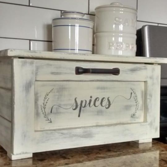Build A Countertop Spice Storage Bin Printable Spice Labels