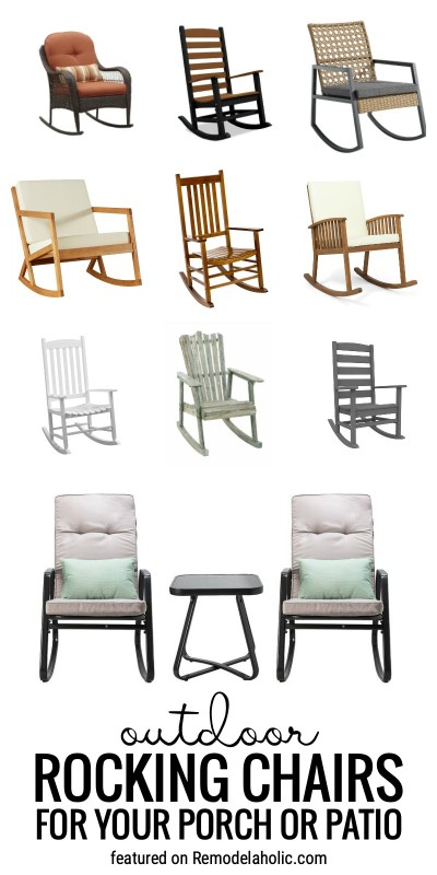 Comfy And Pretty Outdoor Rocking Chairs For Your Porch Or Patio Featured On Remodelaholic.com