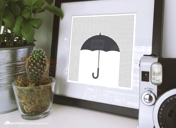 Free Printable Graphic Umbrella AD Aesthetic For Remodelaholic Horizontal