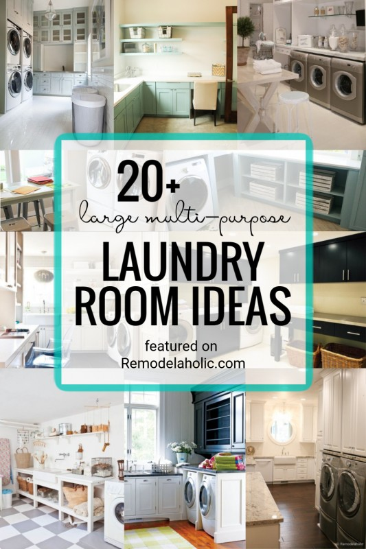 Large Multi Purpose Laundry Rooms. Ideas, Designs, And Inspiration Featured On Remodelaholic.com (1)
