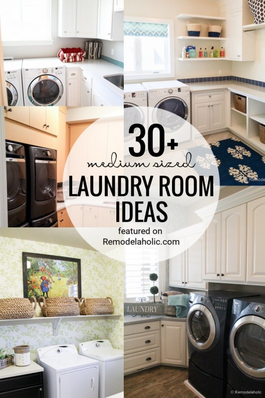 Medium Sized Laundry Room Ideas And Inspiration Featured On Remodelaholic.com (1)